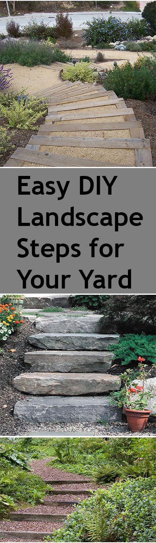 DIY Steps for Your Yard | Landscape steps, Backyard and Landscaping