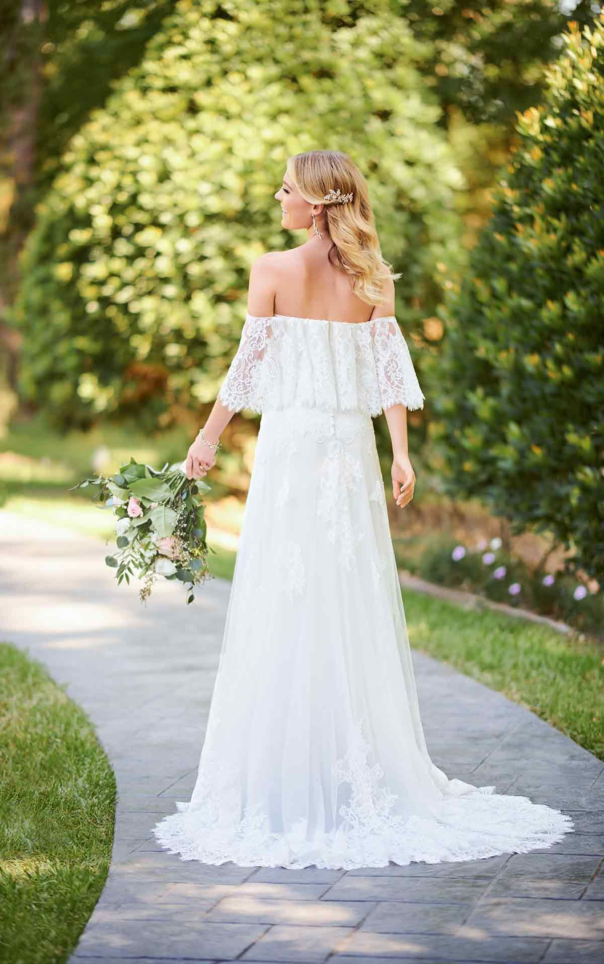 Casual Boho Wedding Dress with Flutter Sleeves Stella