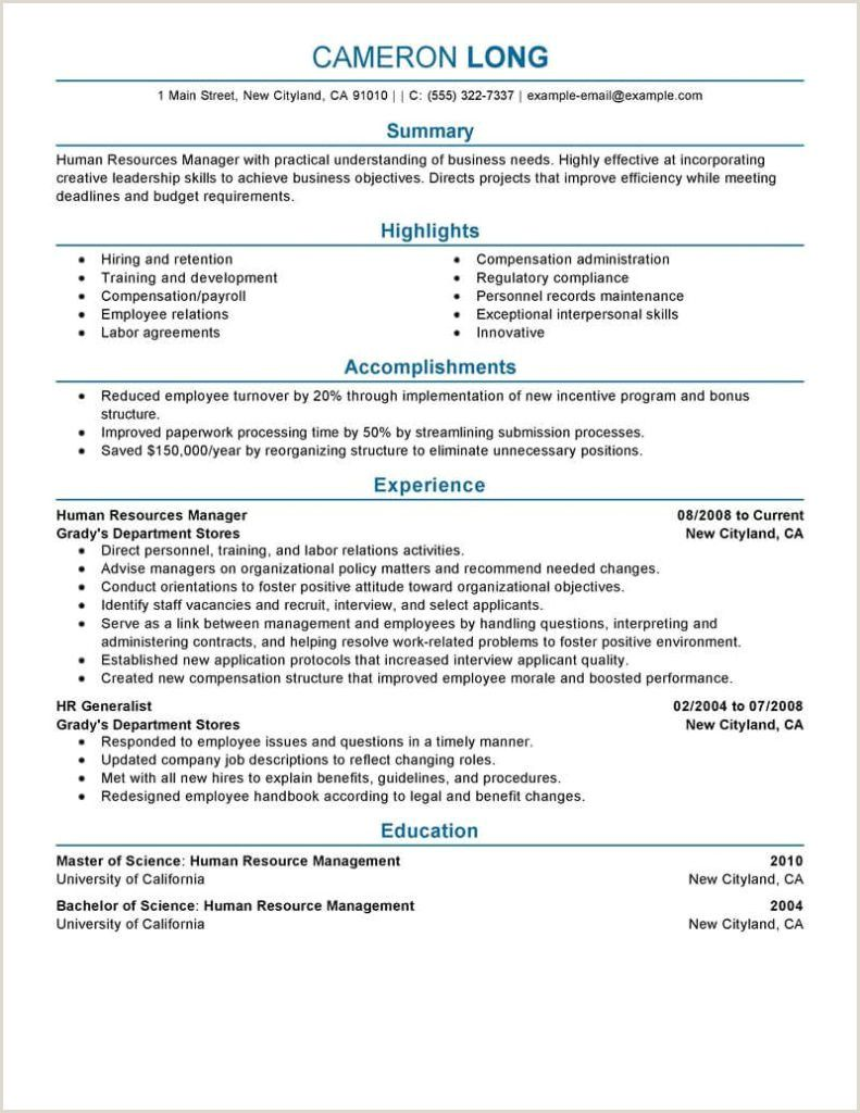 Human Resource Manager Resume in 2020 Nursing resume