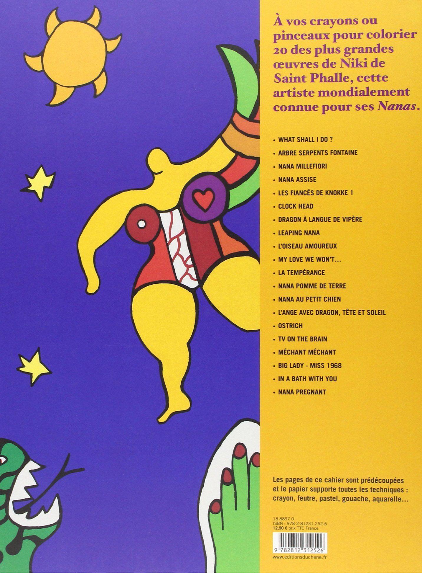 Amazon.fr - Cahier de coloriages Niki de Saint Phalle - Niki de Saint-Phalle - Livres