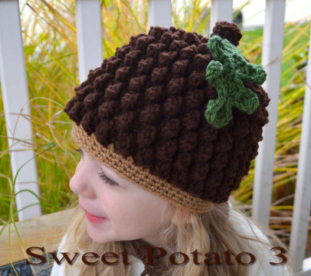 Acorn / Pine Cone Crochet Hat Pattern by Sweet Potato 3. I love all ...