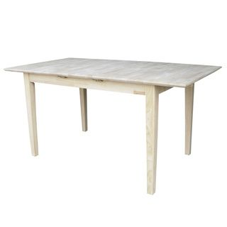 32 Inch Wide Unfinished Shaker Style Parawood Dining Table With