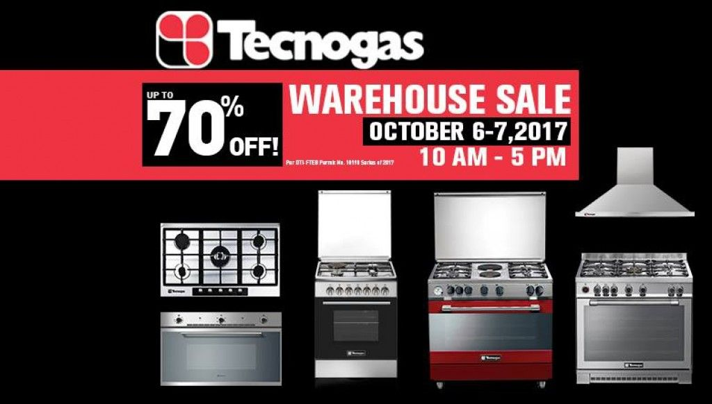 Tecnogas Philippines Warehouse Sale October 6 To 7 2017