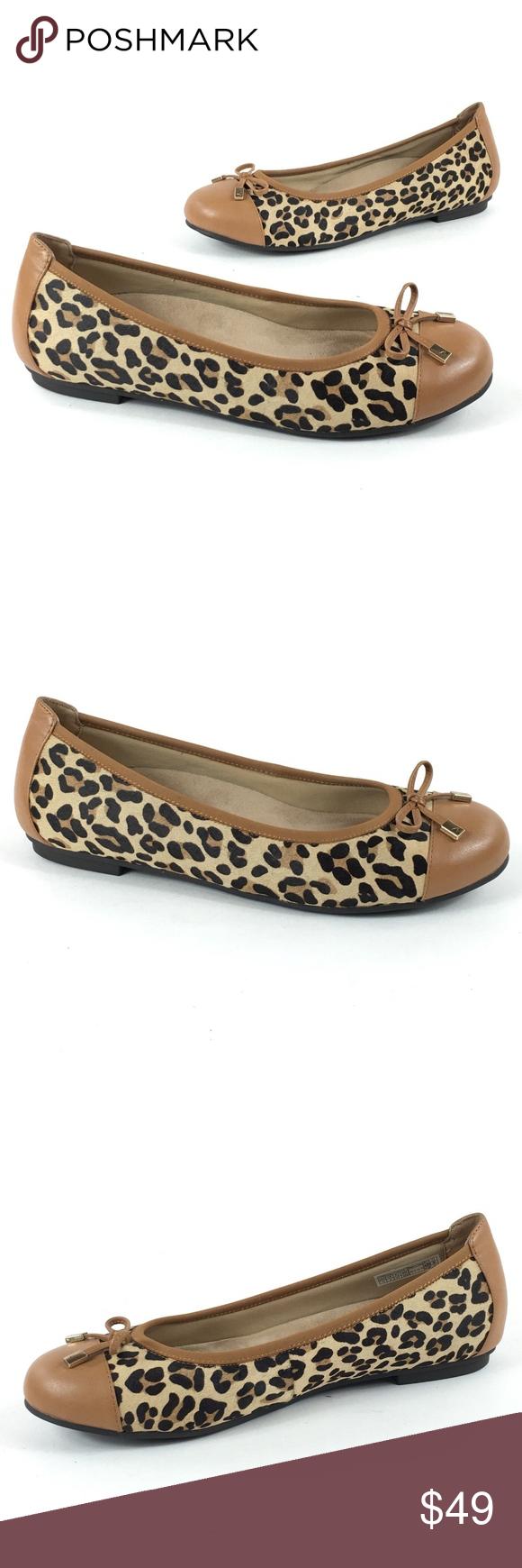 b26c227074f Vionic Minna Leopard Print Toe Cap Ballet Flats