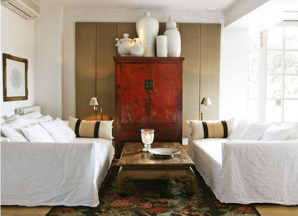 Como decorar con muebles chinos armario de boda rojo salon - Mueble salon rojo ...