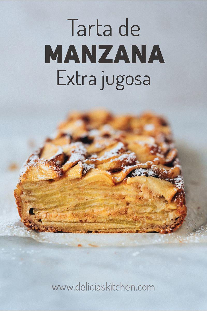 Tarta De Manzana Fácil Y Jugosa Delicias Kitchen Receta Tarta De Manzana Fácil Recetas De Dulces Faciles Recetas Faciles Postres
