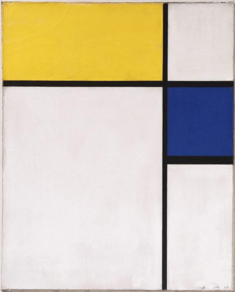 Mondrian // Composition with Blue and Yellow // 1932