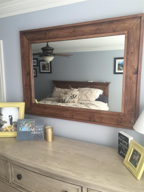 This DIY Rustic Wooden Mirror Will Look Great In A Bedroom Living Room Or Family The Make An Artistic Statement Over Dresser Mantel