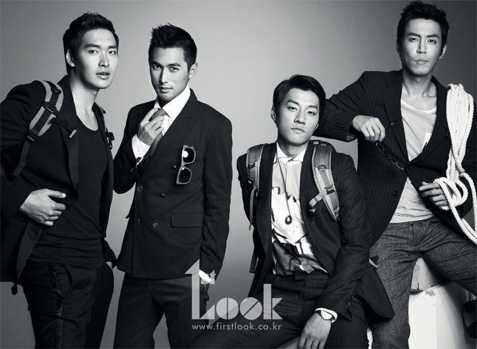 Jung Gyo Woon, Yu Ha Jun, Lee Chun Hee and Choi Won Young 1st. Look Korea Magazine Vol.26 August 2012