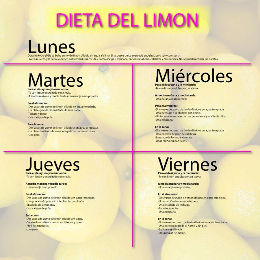 Dieta Del Limon Dieta Del Limon Dietas Para Adelgazar Limon