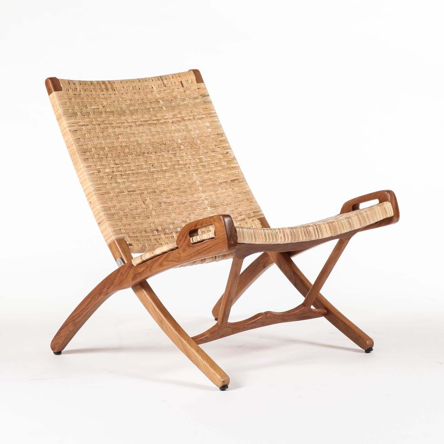 MatthewIzzo.com   Vilhelm Lounger Folding Chair Teak And Rattan #living  #garden Room #folding Lounge Chair
