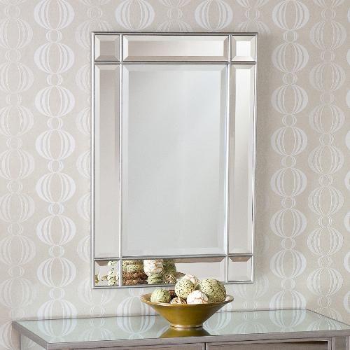Frameless Beveled Bathroom Mirror