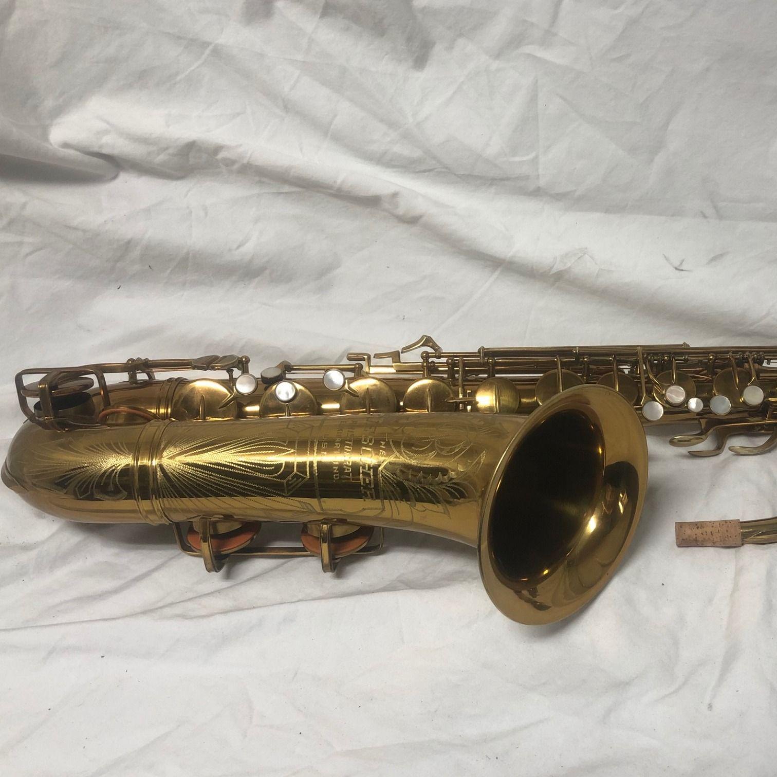 Buescher Big B Aristocrat vintage tenor sax features original