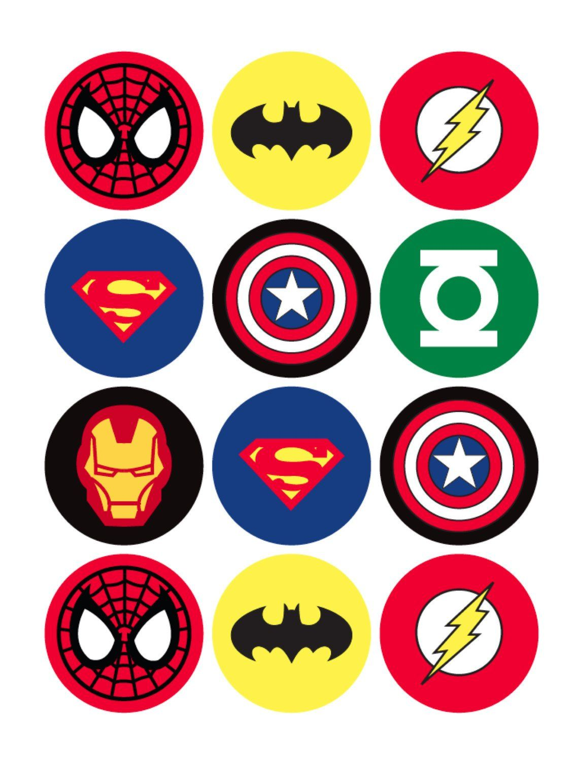 The Avengers Superhero Cupcake Toppers #superherocrafts