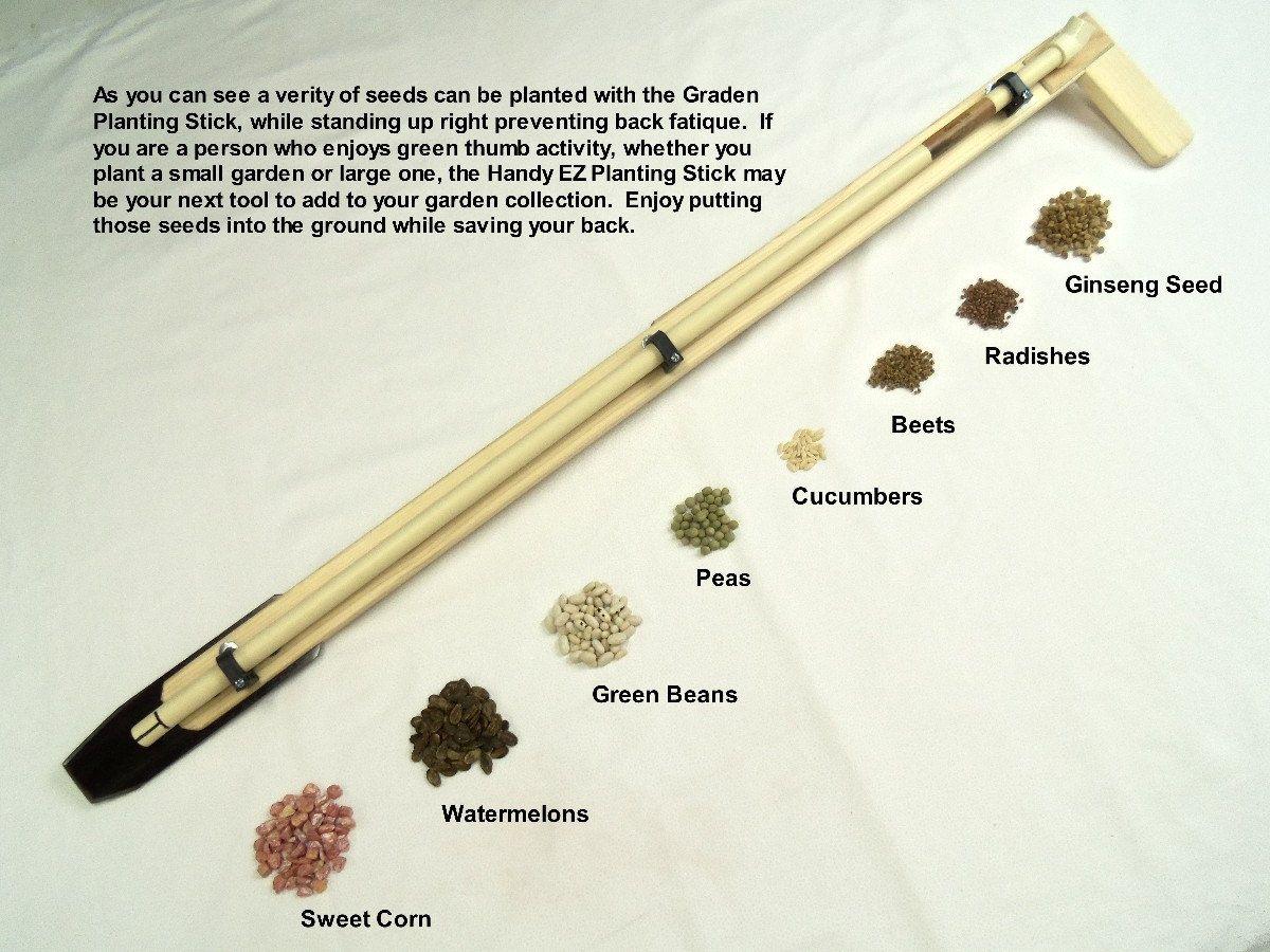 Garden And Ginseng Planting Stick Gardening Tool Wooden Steel