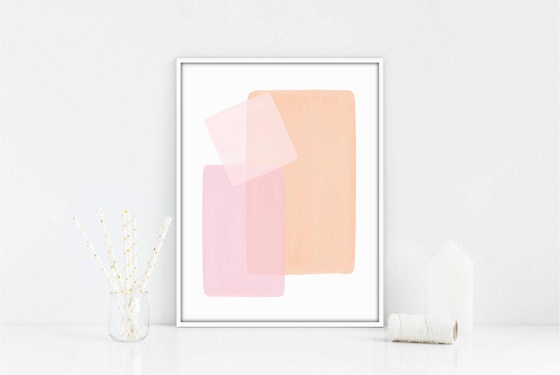 Orange Pink Art Print Abstract Contemporary Art Abstract Etsy In 2020 Pink Art Print Pink Art Modern Watercolor Art