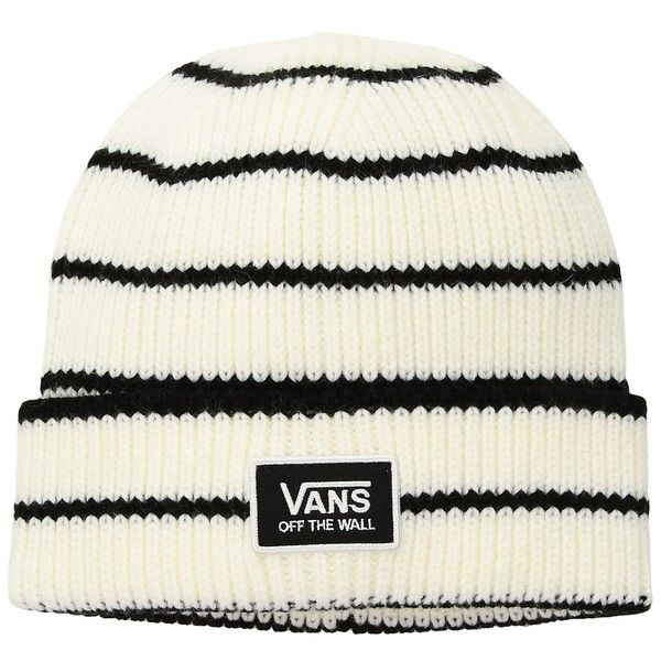 9011e9020e Vans Falcon Beanie (Marshmallow Black) Beanies (195 SEK) ❤ liked on  Polyvore featuring accessories