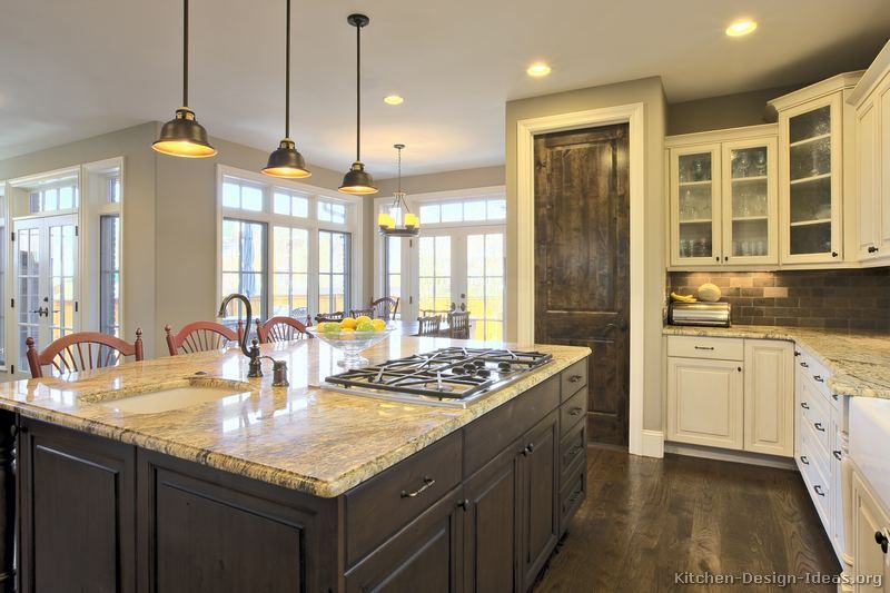 beautiful White Kitchen Cabinets And Dark Wood Floors #8: 10 Best images about Two tone kitchen on PinterestKitchen