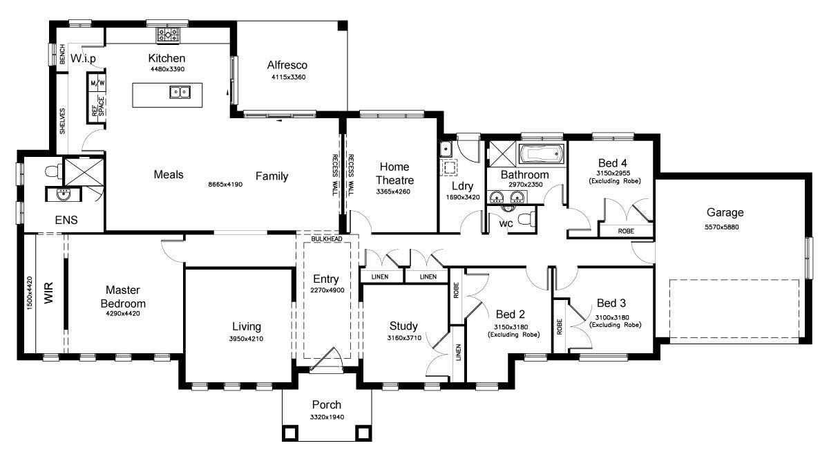 Fairmont 32.8   Acreage Level   Floorplan By Kurmond Homes   New Home  Builders Sydney NSW