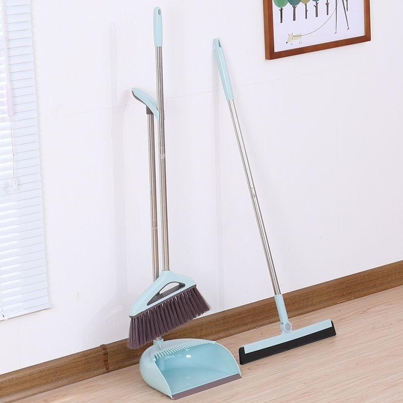 Broom Dustpan Set Wiper Broom Combination Toilet Plastic Sweep Broom Home Magic Scraping Artifact Cleaning Dust Broom And Dustpan Broom