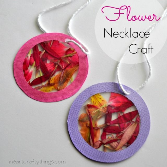 Flower necklaces with the artful year simple flowers flower and craft solutioingenieria Gallery