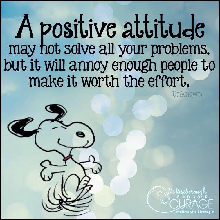 A Positive Attitude Peanuts Frases Sueños Imagenes Con