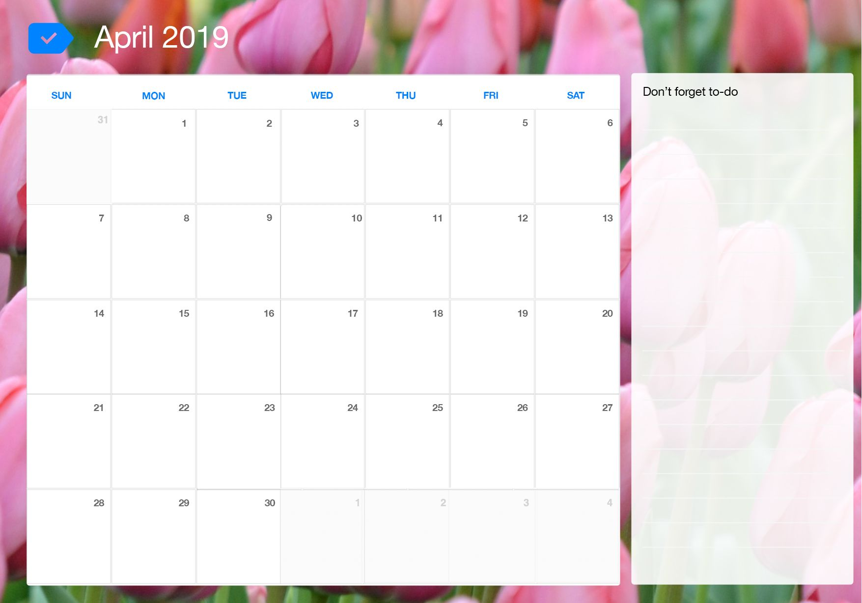 Free April 2020 Printable Calendar Word Pdf With Holidays