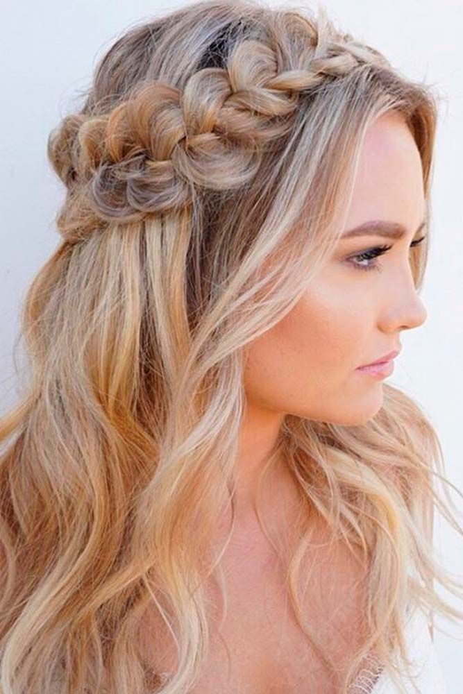 Nice Holiday Half Up Hairstyles For Long Hair Lovehairstyles Com Hair Styles Hair Wedding Hair Down