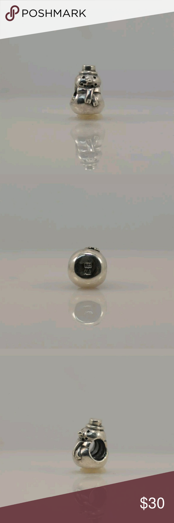 Retired Pandora Snowman Charm 790374 Authentic Retired