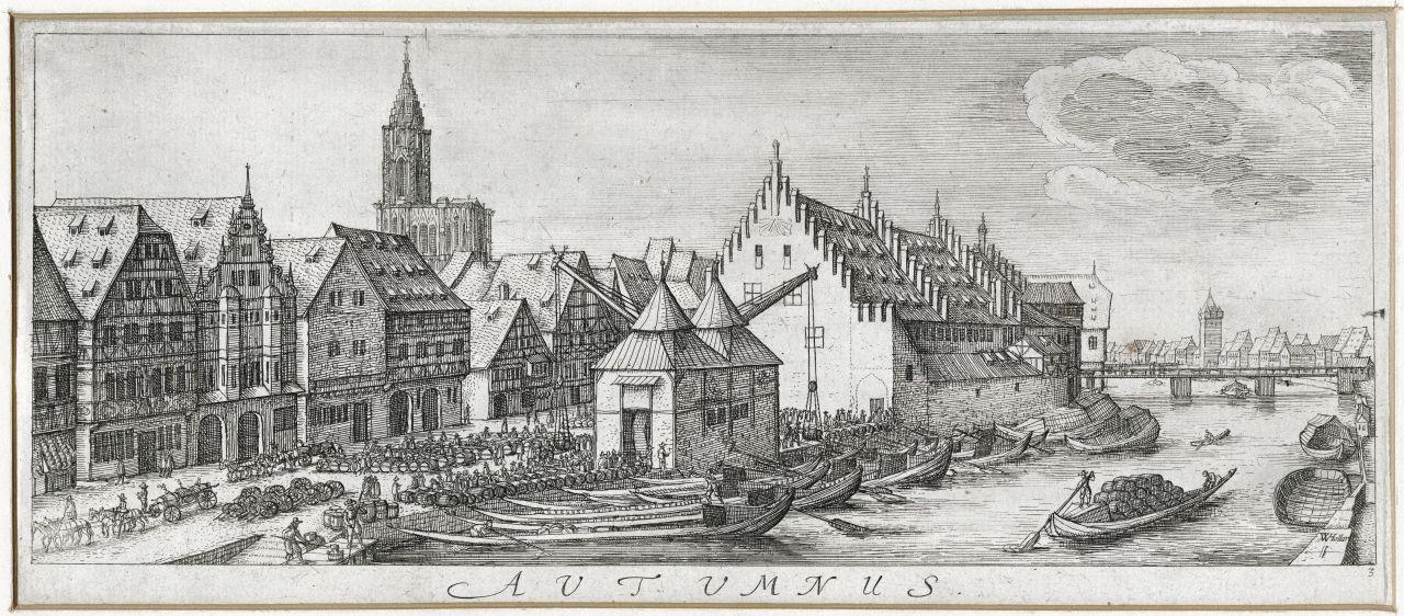Vue sur l\u0027ancienne douane Grav Hollar Wenzel, v 1630 Coll Cabinet