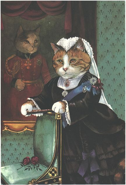 Victorian Cat Vintage Cats Cat Art Fancy Cats Pet