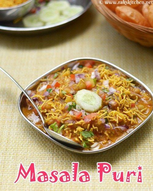 Masala puri chaat recipe, street food style masala puri - Raks Kitchen