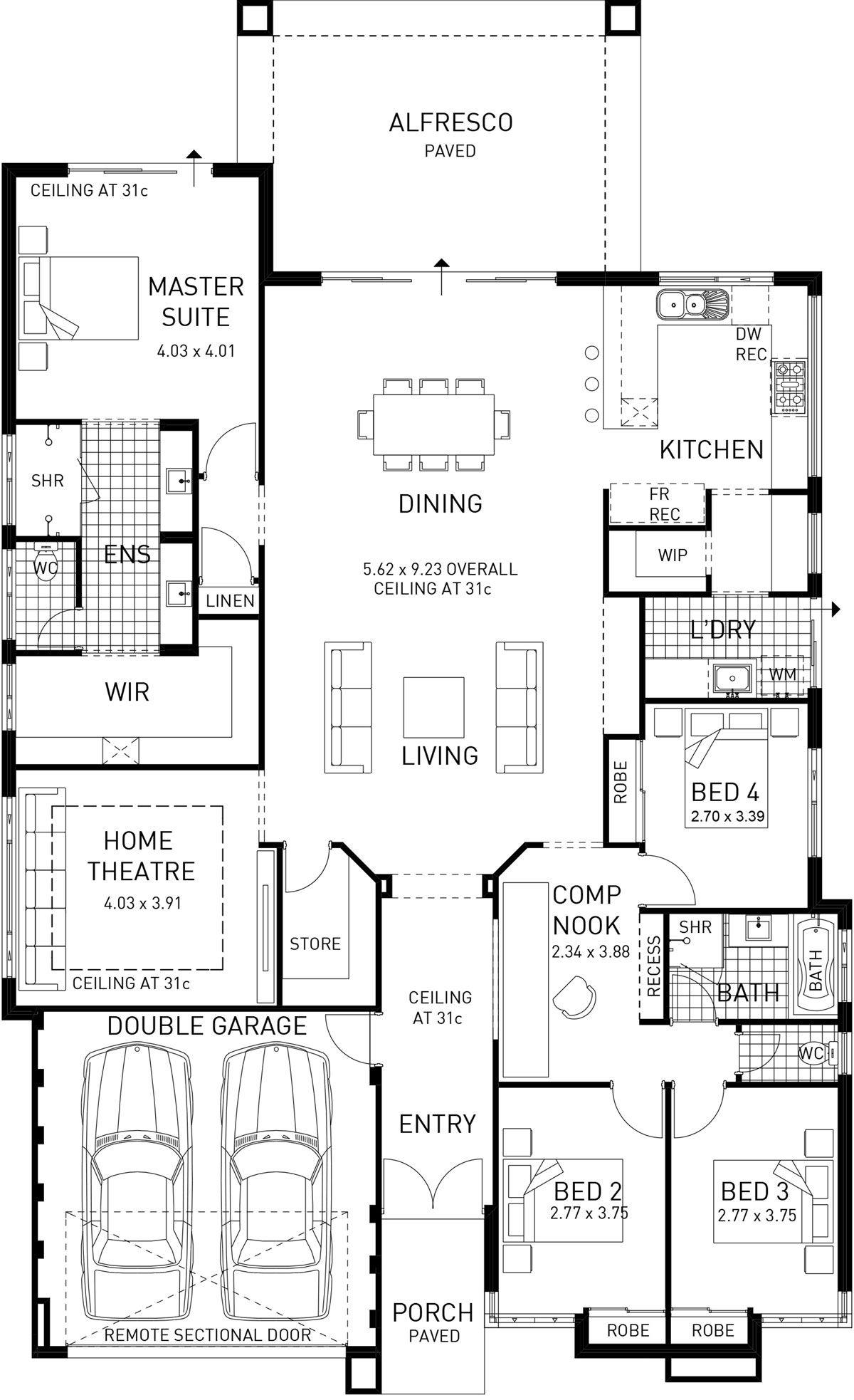 Newtown Single Storey Display Floor Plan Wa House Layout Plans Home Design Floor Plans House Blueprints
