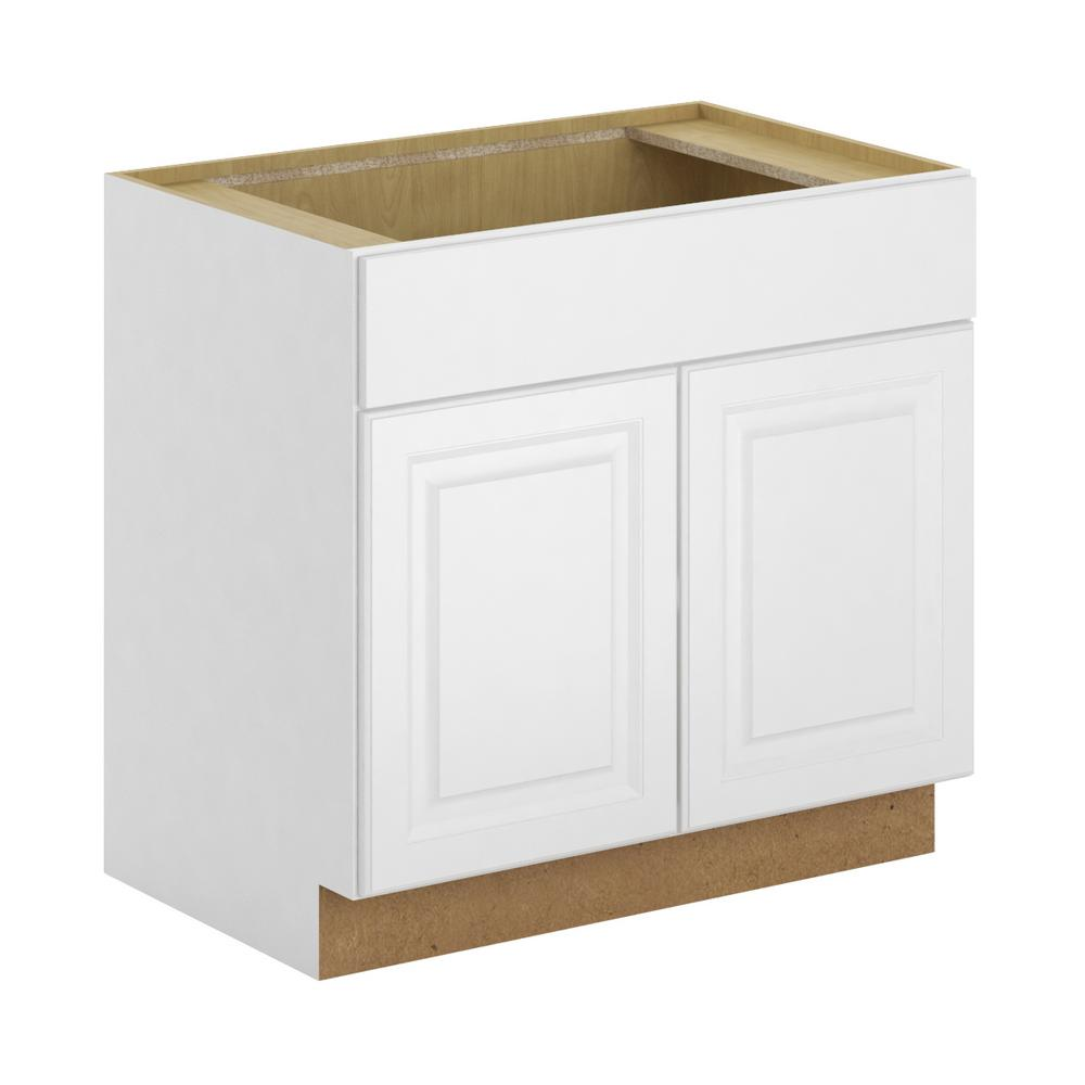 Hampton Bay Madison Assembled 36x34.5x24 in. Sink Base Cabinet in ...