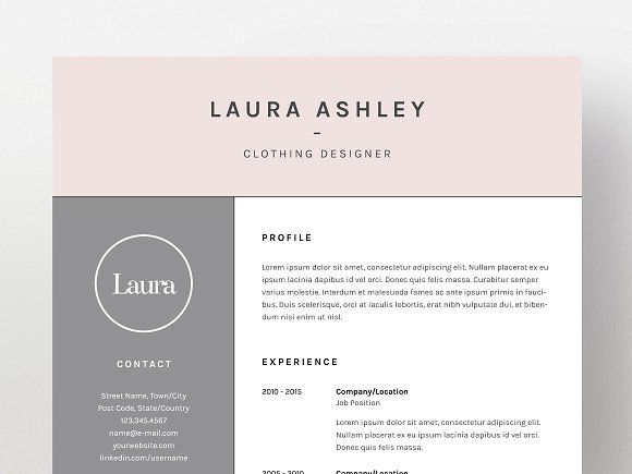 Laura Ashley - Resume/CV Template Cv template, Resume cv and Template