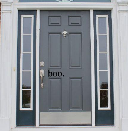 Boo – halloween front door vinyl decal