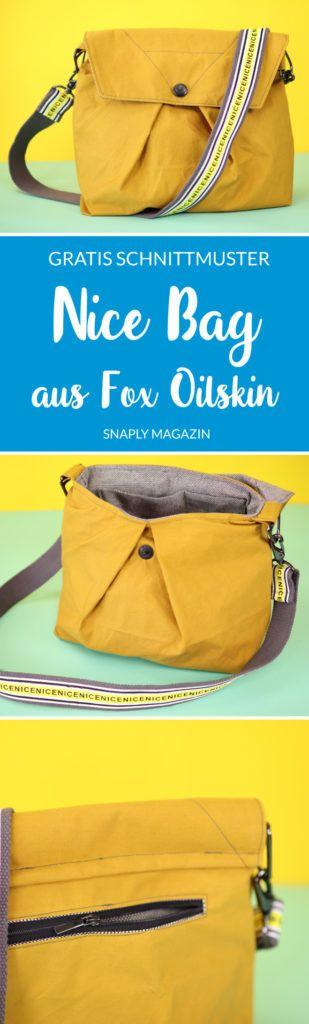 Nice Bag aus Fox Oilskin nähen mit Typo-Gurt – Gratis Schnittmuster | Snaply-Magazin #pursesandbags