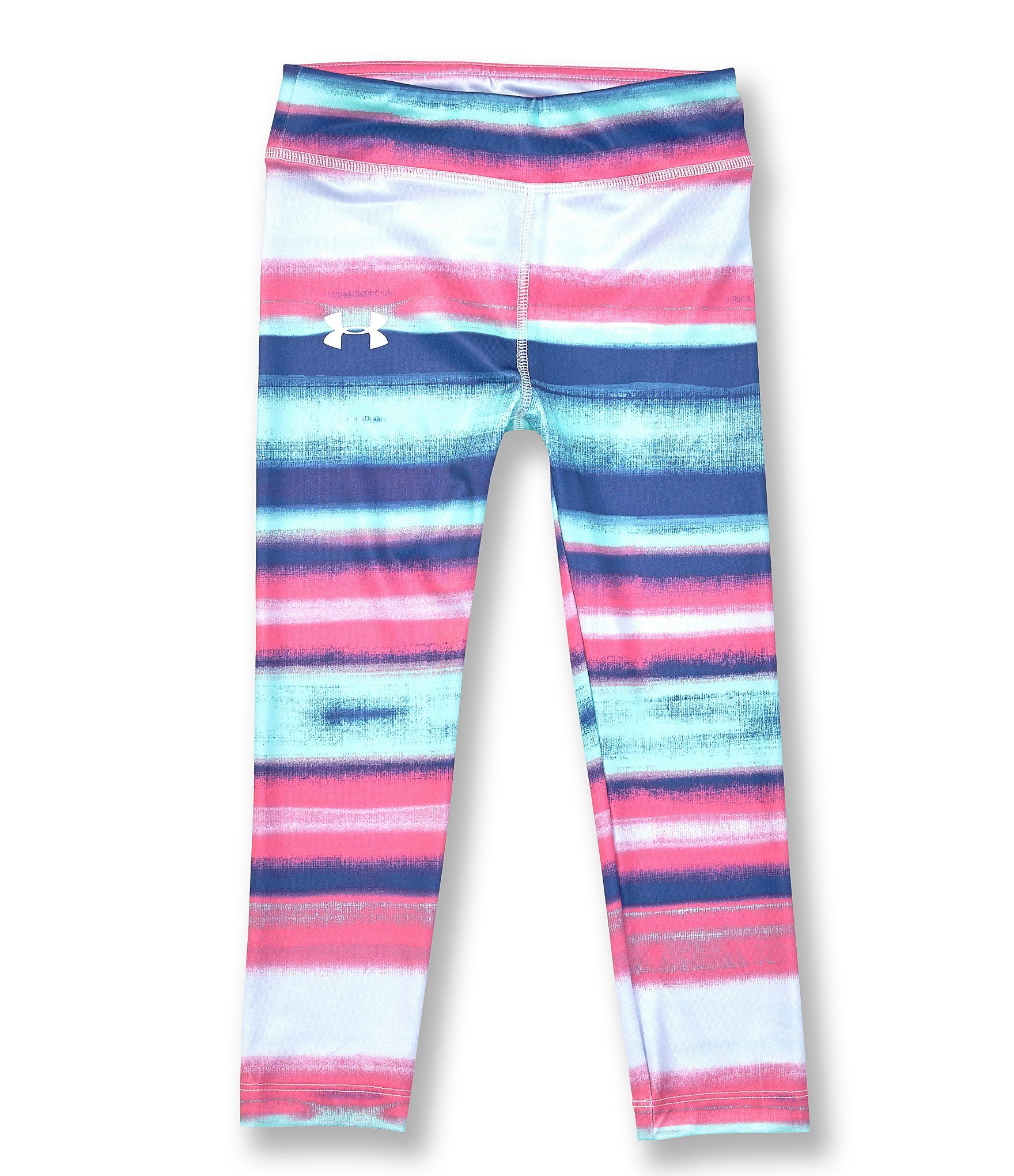 Under Armour Little Girls 2T-6X Hue Striped Leggings - Hue Saturation/Reflective 6 #stripedleggings