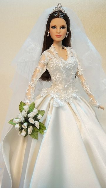 Custom Princess Catherine Wedding Doll Barbie Wedding Dress Barbie Bridal Barbie Dress