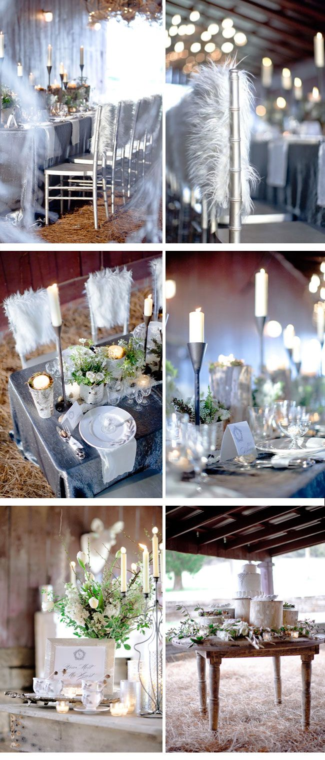 Ideen f r eine winterhochzeit hochzeit im winter winter wedding ideas winterhochzeit - Dekoration winterhochzeit ...