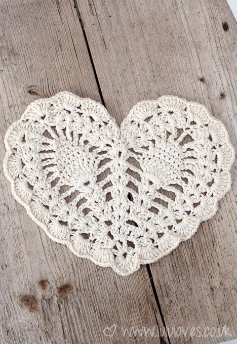 Bonito corazón.. Que bonito es el crochet.. <3 #ideas #crochet ...
