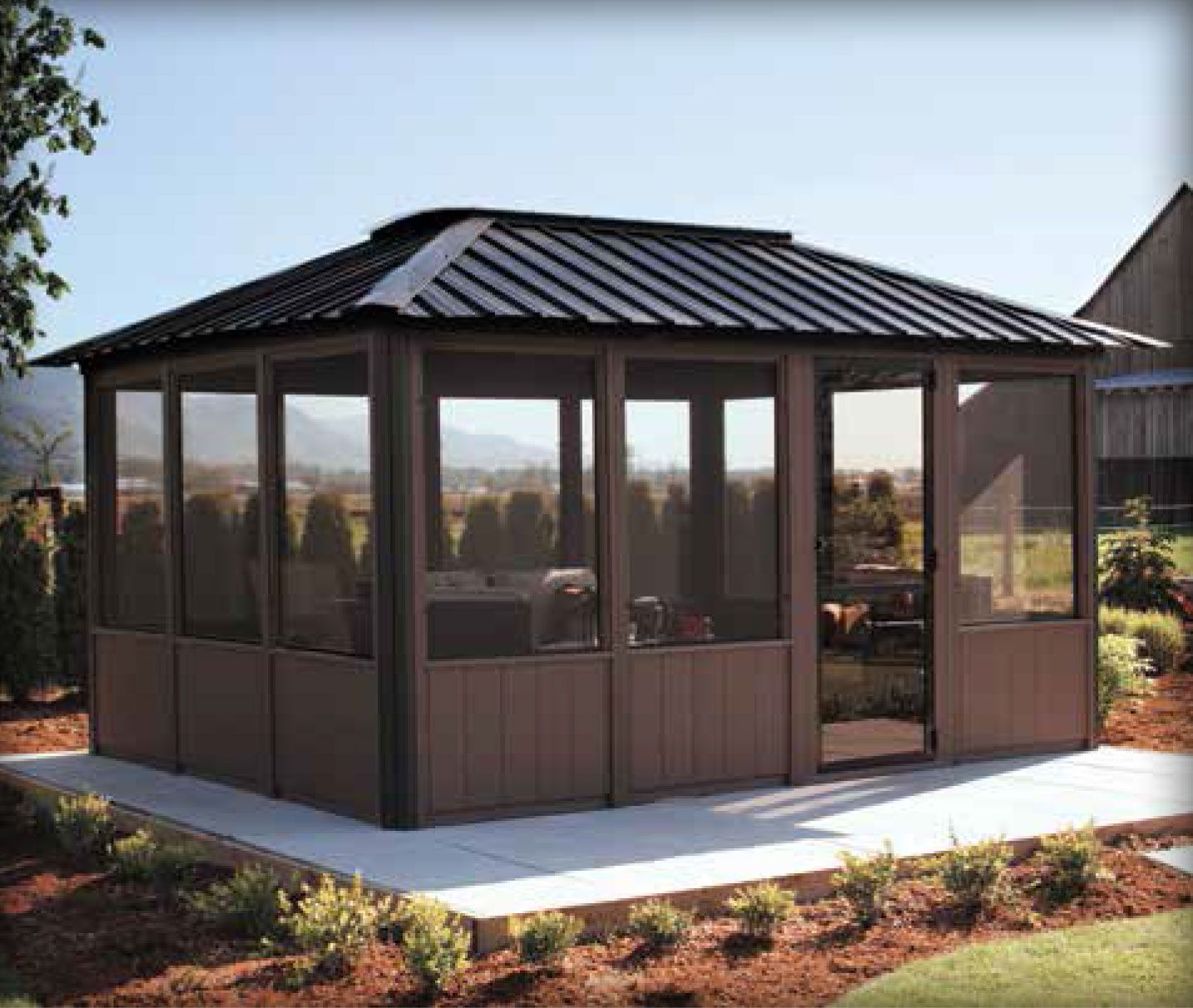 Adding Beauty To Your Garden With An Arbor Enclosed Gazebo
