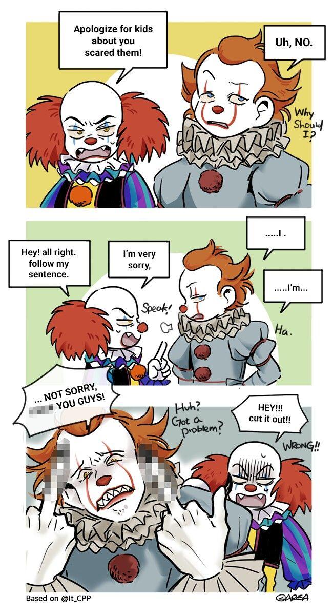 Double Text Clown Meme
