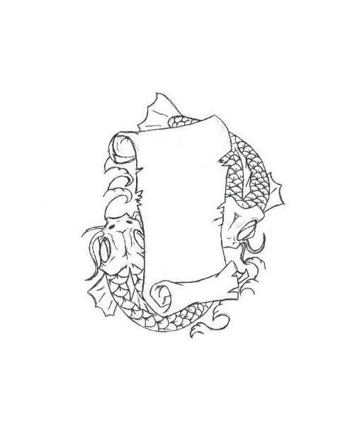 Sleeve Template Tattoo: Blank Tattoo Scrolls With Blank Scroll Tattoo