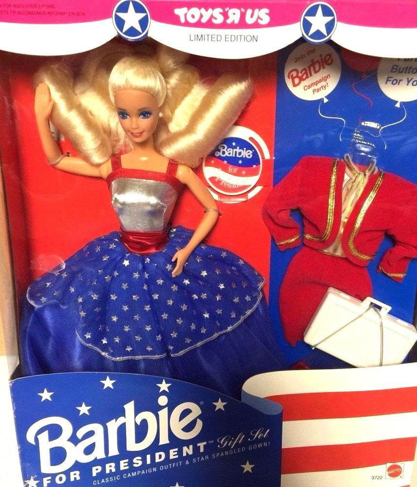 1991 MATTEL Barbie for President Gift Set Mint Toys Us Limited Edition NRFB #Mattel1991 #DollswithClothingAccessories
