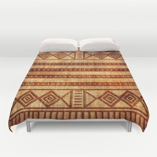 Embossed African Pattern Duvet Cover