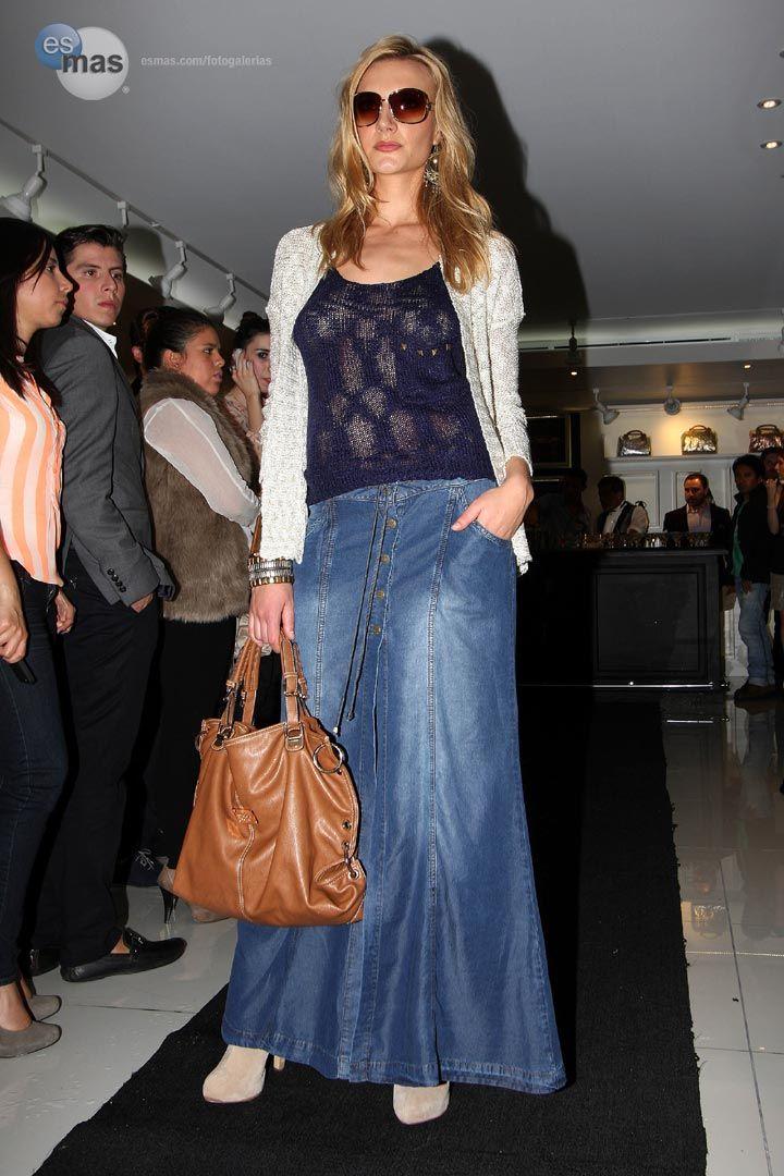 6a30fa64c faldas en jean studio f - Buscar con Google | Diseños | Faldas de ...