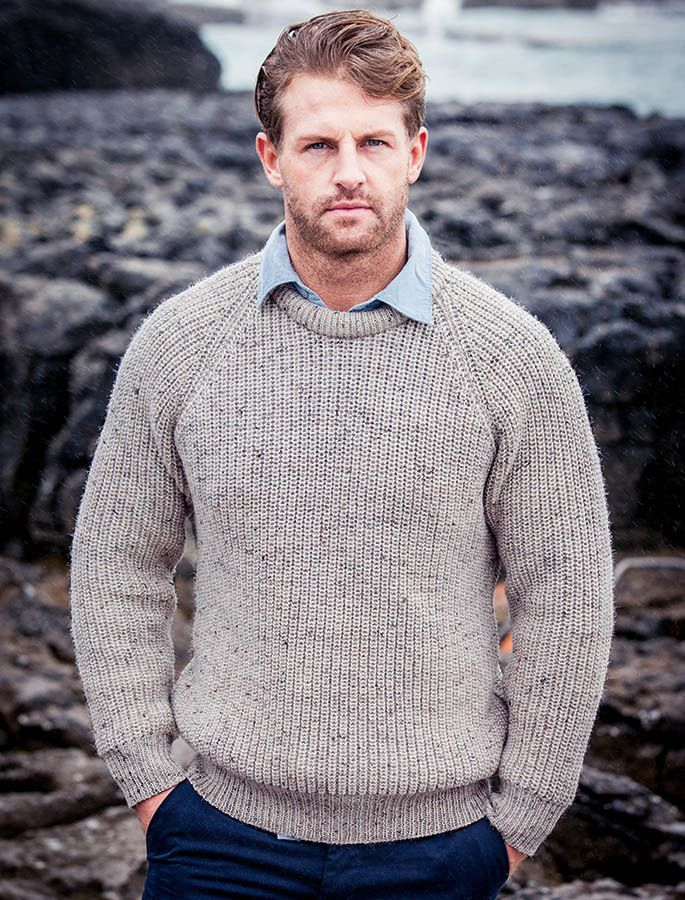 Irish Fishermans Ribbed Sweater (With images)   Wool ...