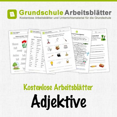 kostenlose arbeitsbl tter und unterrichtsmaterial f r den deutsch unterricht zum thema adjektive. Black Bedroom Furniture Sets. Home Design Ideas