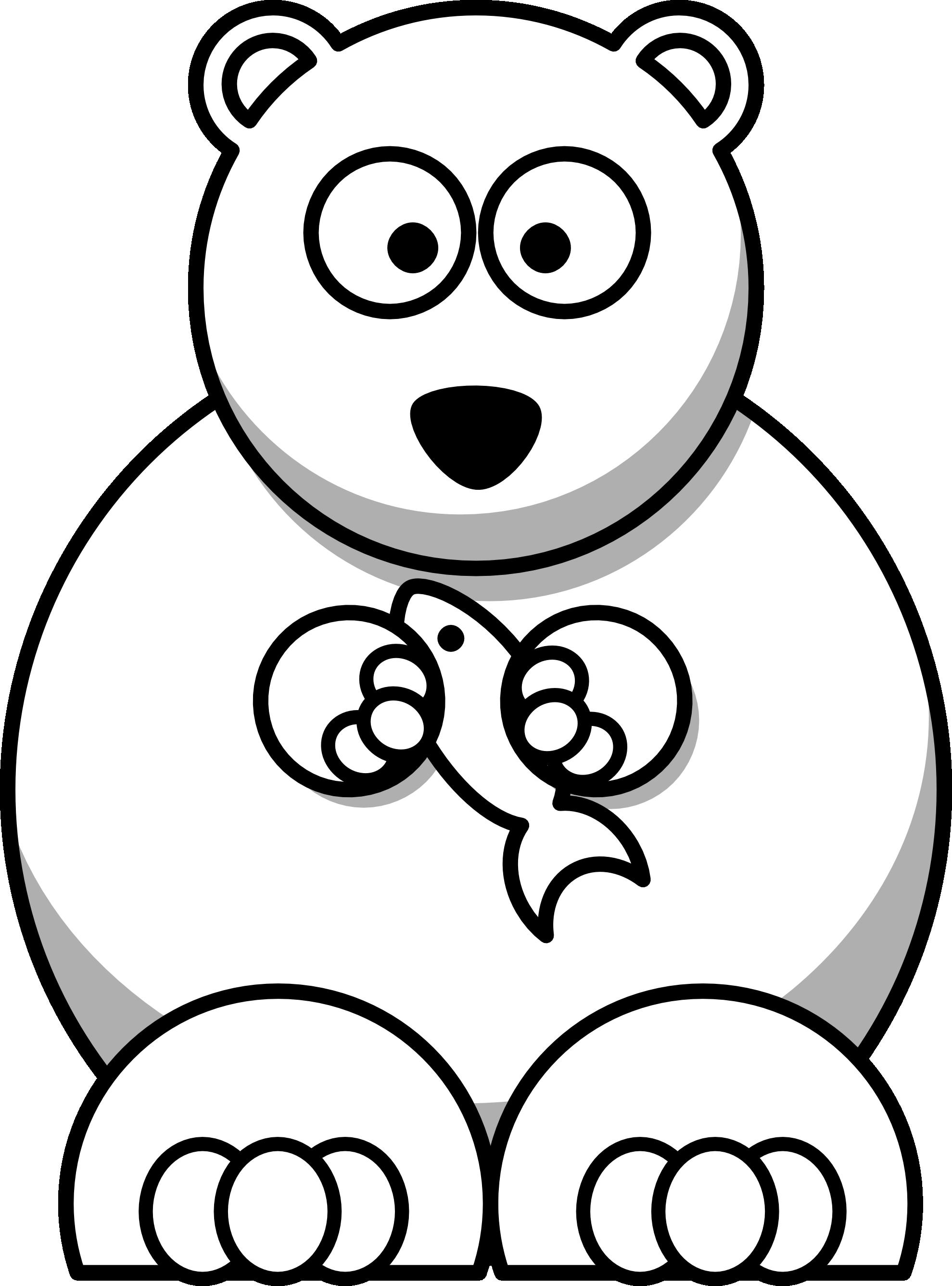 Animal Polar Bear Coloring Page Polar Bear Cartoon Bear Cartoon